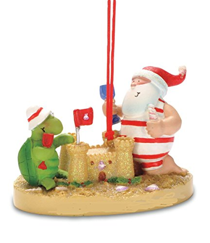Cape Shore Santa Turtle Sandcastle Island Christmas Tree Ornament