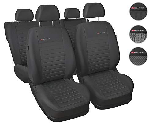 Coprisedili Auto Anteriori e Posteriori Copri-sedile con Airbag Sistema Elegance P4 - Grigio