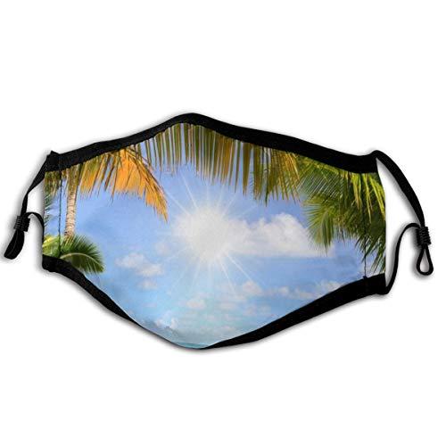Homect - Bandanas unisex de cobertura completa, protección UV, polaina, costa, barco, mar, palmeras