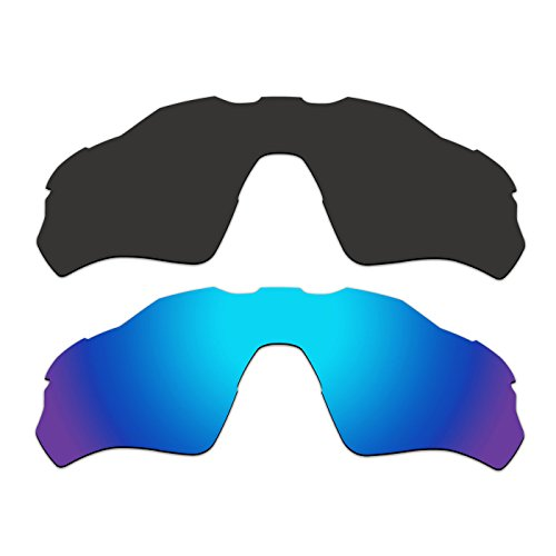 2 Pair ACOMPATIBLE Replacement Polarized Vented Lenses for Oakley Radar EV XS Path (Youth Fit) Sunglasses OJ9001 Pack P4