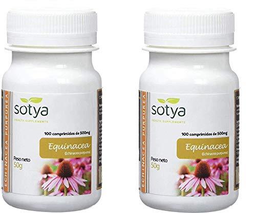 SOTY PACK 200 comprimidos (100 + 100) 500 MG ECHINACEA, 4% polifenoles, estimulantes potentes del sistema inmunológico, mejora la salud mental, mejora los problemas de la piel.