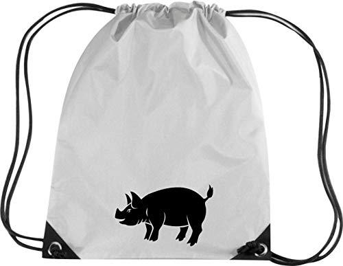 Camiseta stown Premium gymsac Animales cerdo, pegamento, Sau, Piglet, plata