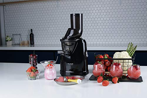 Kuvings B1700 Professional Cold Press Whole Slow Juicer, Powerful 240 Watts Motor, Patented JMCS Technology for Max Yield (Phantom Black Juicer)