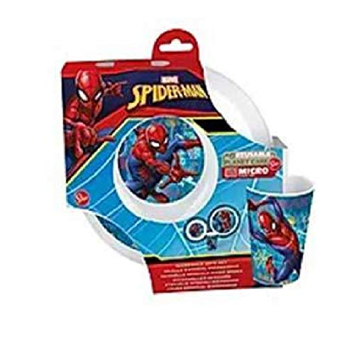 Spiderman - Juego de 3 platos + vaso