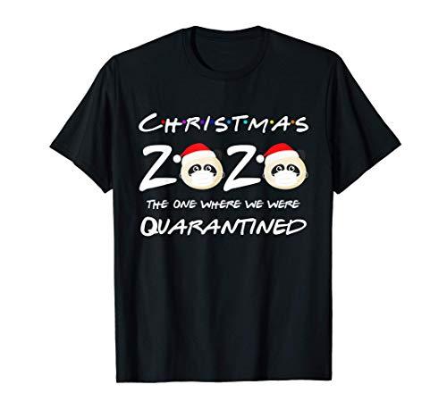Christmas 2020 Panda Wearing Face Mask Pajama Quarantined T-Shirt