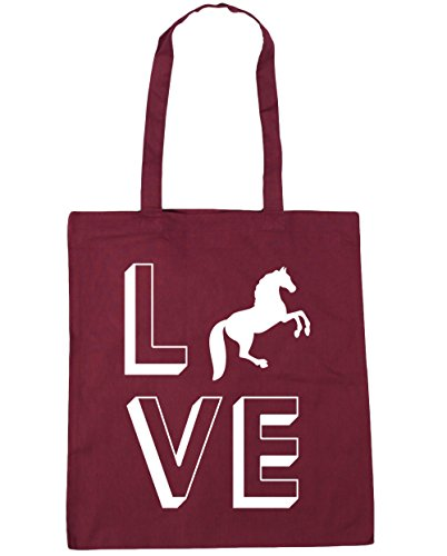 HippoWarehouse Love Horses Tote Shopping Gym Beach Bag 42cm x38cm, 10 litres