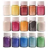 DEWEL Pigmentos para Resina Epoxi 15 * 10g, Colorante Resina Epoxi, Resina Epoxi para DIY Manualidades