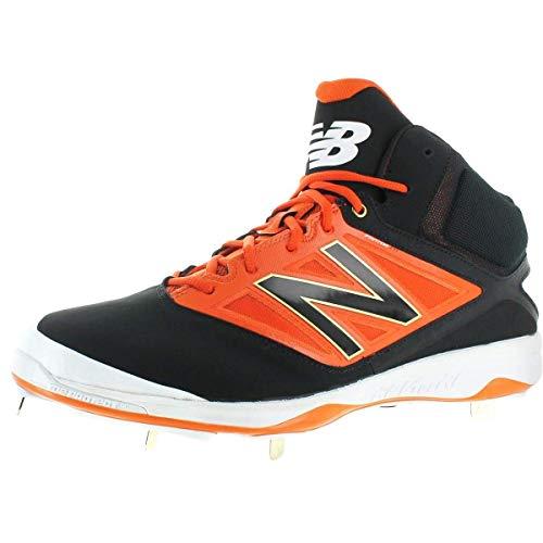 New Balance New Mens M4040BO3 Mid Metal Baseball Cleats Black/Orange Size 16 M