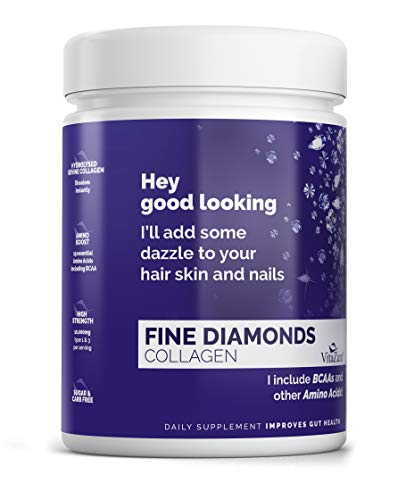VitaZam - Premium Hydrolysed Collagen Type 1 & 3 Powder to Reduce Wrinkles, Strengthen Hair & Nails, Reduce & Prevent Cellulite and Reduce Joint Pain and Inflammation - Sugar-Free - 30 Days Supply