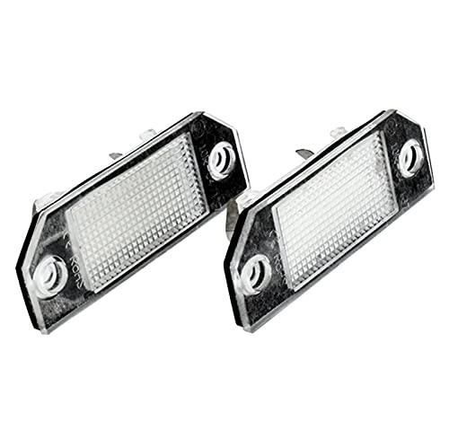 PINGGUO BOOY-Store 2pcs LED Número Lámpara de Luz Lámparas Luz FIT FOR Ford Focus C-MAX MK2 03-08 Coche Exterior Accesorios Accesorios Luces 12V