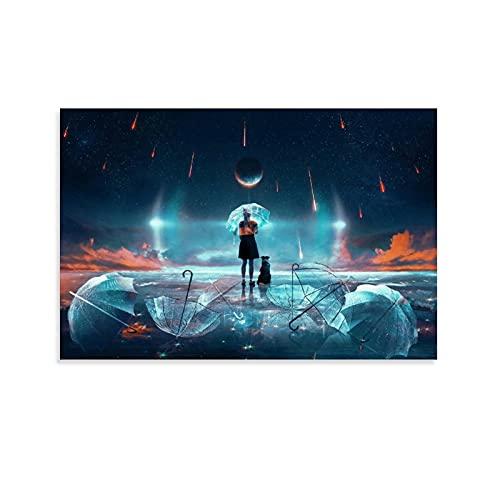 Poster murale con doccia di meteora, decorazione da parete, decorazione della stanza, corridoio Unframe-style1 40 x 60 cm