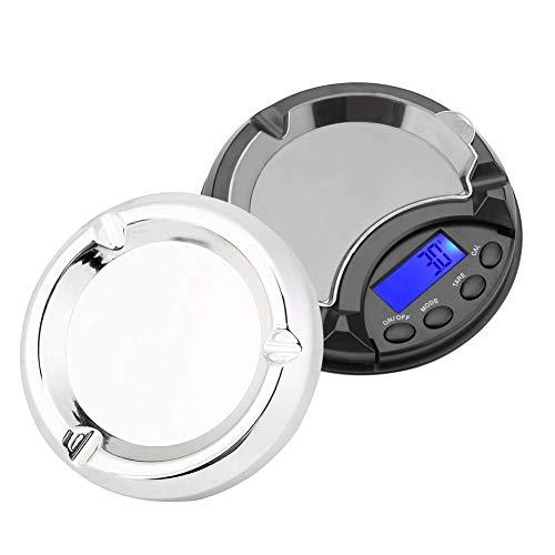 Báscula de bolsillo de cocina para joyería, 0.01gx 100g Mini cenicero portátil de alta precisión Escala de gramo digital Herramienta de medición precisa