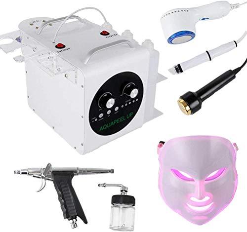 WUAZ 5 in 1 Hydro Sauerstoff-Maschine, Ultraschallkopf + LED-Maske + hydrodermabrasion + kalt Hammer + Sauerstoff-Spritzpistole Haut-Peeling Porereinigung Haut Rejuvenaiton anziehen