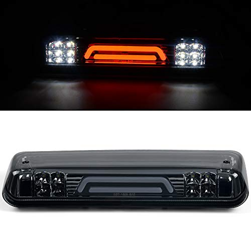 3D LED Third Brake Lights Replacemnt For Ford F150 Lobo 2004-2008 / Ford Explorer Sport Trac 2007-2010 / Lincoln Mark LT 2006-2008 Smoke Lens High Mount Brake Lights