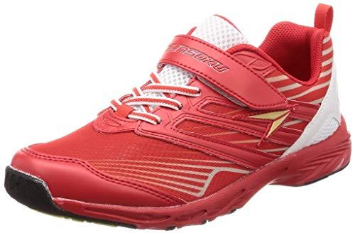 [シュンソク] 運動靴 通学履き 瞬足 スパイク 耐久性 軽量 19~25cm 2E キッズ 男の子 SJJ 5990 レッド 25 cm