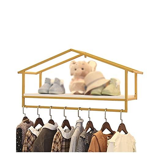 YAYADU-Storage Basket Colgador De Tienda De Ropa para Niños, Soporte De Exhibición De Tienda De Ropa, Soporte De Exhibición Multiusos, Ahorre Espacio para La Sala De Estar, El Dormitorio