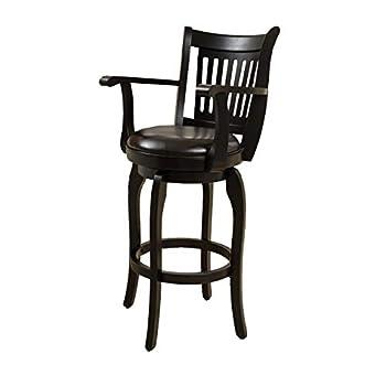 Christopher Knight Home 296819 Prescott Leather Swivel Bar Stool with Arm 30  Espresso