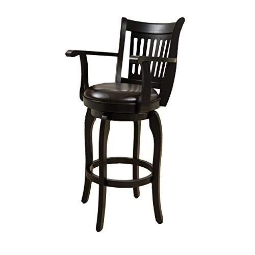 "Christopher Knight Home 296819 Prescott Leather Swivel Bar Stool with Arm, 30"", Espresso"