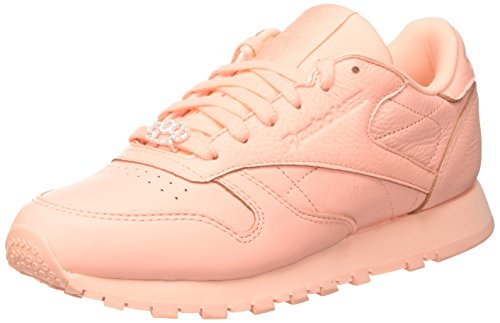Reebok Classic Leather L, basses Femme - Rose (Grit-Peach Twist/Sleek Met), 38 EU (5 UK)