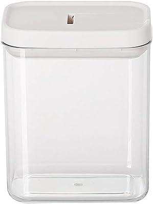 気密食品保存容器、砂糖に最適なパントリー用シリアル容器、小麦粉漏れ防止透明プラスチックが食品を新鮮な状態に保ちます