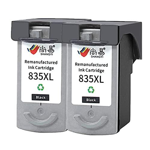AZXC para el Cartucho de tóner Compatible con Canon 835XL 836XL, se Adapta a la Impresora IP1188 Trabajo de Alto Rendimiento con Chip 2black