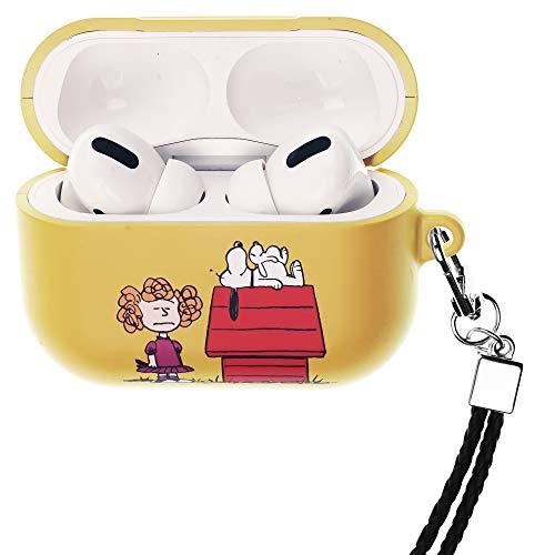 Peanuts Snoopy ピーナッツ スヌーピー AirPods Pro と互換性があります ケース ネックストラッ エアーポッズ プロ 用 ケース 硬い スリム ハード カバー (一緒 スヌーピー 家) [並行輸入品]