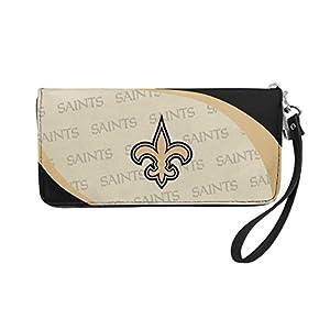 NFL New Orleans Saints Curve Zip Organizer Wallet