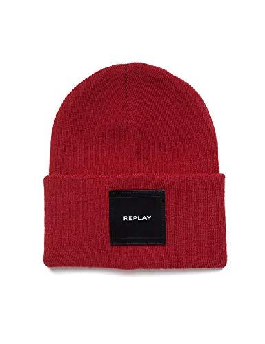 Replay Unisex AX4167.000.A7003 Strickmütze, Rot (Blood Red 260), One Size (Herstellergröße: UNIC)