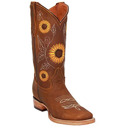 Sunflower Cowboy Boots