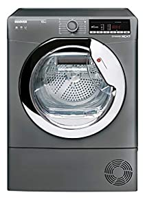 Hoover DXOC10TCER Freestanding Condenser Tumble Dryer with Aquavsion, WiFi Connected, 10Kg, Graphite