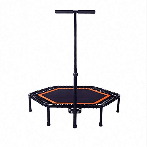 LuoMei Small Trampoline Foldable Jumping Fitness Trampoline Foldable Fitness Trampoline/Indoor Rebounder Jumper Aerobic Fitness Household Gym Exercise44 in