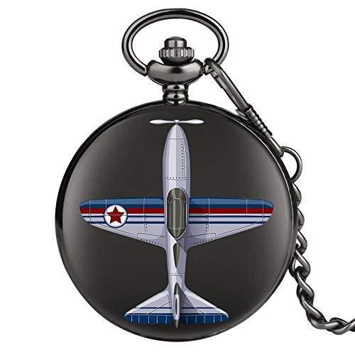 Exqusite Aircraft Logo Design Pocket Watches Hombres Collares Femeninos Accesorios Masculino