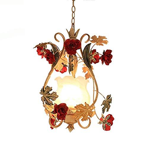 Amerikanische schmiedeeiserne Kronleuchter Country Flower dekorative Lichter