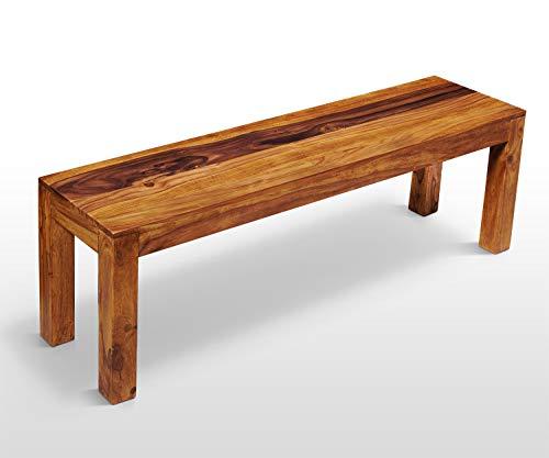AISER Royal Massive Echt-Holz Palisander Sitzbank -Avignon- 135 x 35 cm aus besonders schön gezeichnetem Sheesham-Holz in modernem zeitlosen Design
