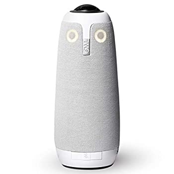 Meeting Owl Pro - 360-Degree 1080p HD Smart Video Conference Camera Microphone and Speaker  Automatic Speaker Focus & Smart Zooming and Noise Equalizing