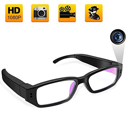 Mini Cámara Espía Oculta,UYIKOO Gafas de vigilancia portátiles con 32 GB Full HD 1080p Eyewear Grabadora de vídeo videocámara DV grabadora de Voz