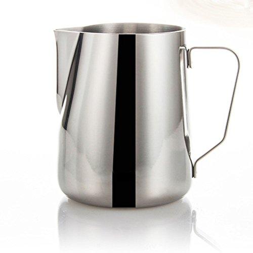 LEORX Lait en Acier Inoxydable-350 ml Pot Tasse-Argent