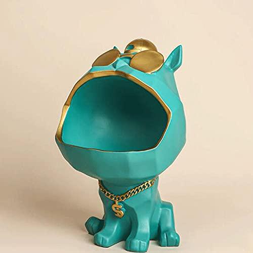 ZLMFK Estatuilla de Perro Genial, Adorno de Escritorio, colección de Figuras para el hogar, Caja de Almacenamiento para Perro con Boca Grande, Adorno de Resina para el hogar, Regalo