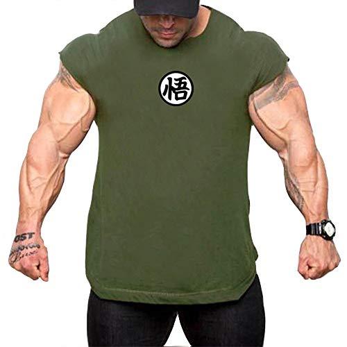 GEMSeven Camiseta De Manga Corta De Dragon Ball para Hombre Camiseta Sin Mangas De Verano Camiseta Informal De Crossfit Gym