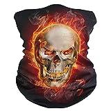 LIUBT - Máscara de protección contra el polvo para deportes al aire libre, protección para la cabeza, sol, motocicleta, fuego, llama, calavera, bufandas para mujeres y hombres