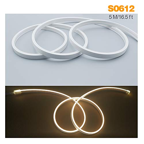 Silikon-LED-Kanalsystem, LED-Aluminium-Profil, Ersatzteil, weiches biegsames LED-Profil, 5 m 12 x 6 mm, wasserdicht IP67, geeignet für 8 mm flexible LED-Lichtleiste, für Innen- und Außenbeleuchtung