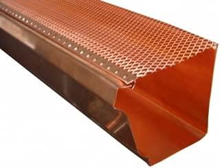 Copper K Style Drop-in Gutter Screen - 3 Ft Lengths - Select Size (6