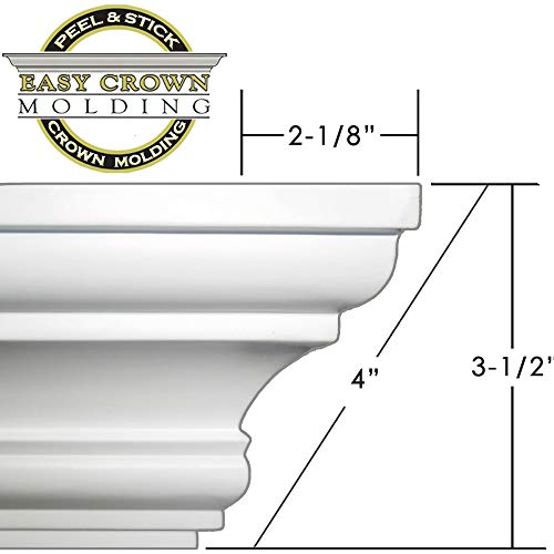 """Easy Crown Molding 4"""" 104' kit. Includes 24 Inside and 4 Outside Corners."""