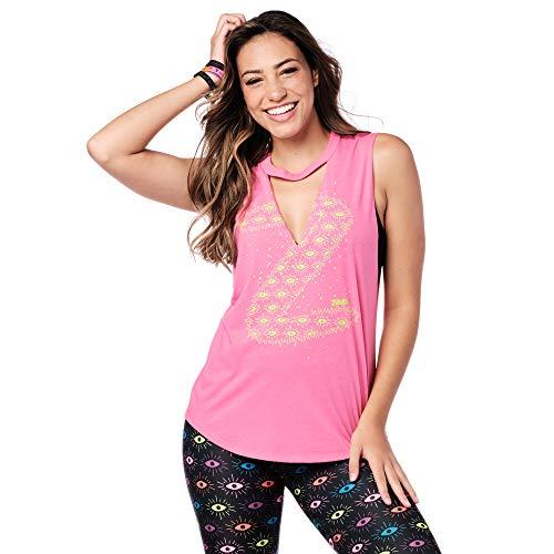 Zumba - Camiseta de tirantes transpirable para mujer Ballet Pink A XS