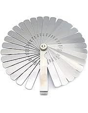 Voelermaat, 32 Bladen Voelermaat, Stalen Voelermaat, Metrische en Imperial Voelermaat, voor Het Meten Van Spleetbreedte, Diktematen (0,02-1,00 mm)