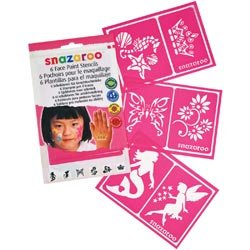 Snazaroo Bulk Buy (2-Pack) Face Painting Stencils 6 Pack Girls Fantasy 1198014