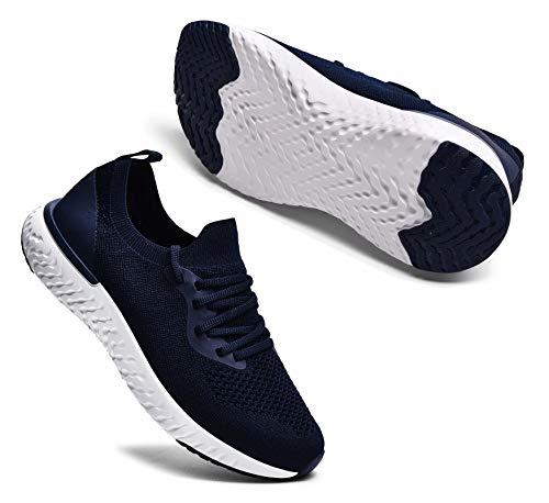 Sosenfer Turnschuhe Damen Herren Sneaker Sportschuhe Laufschuhe Atmungsaktiv Leichtgewichts Walkingschuhe-Blau06-39
