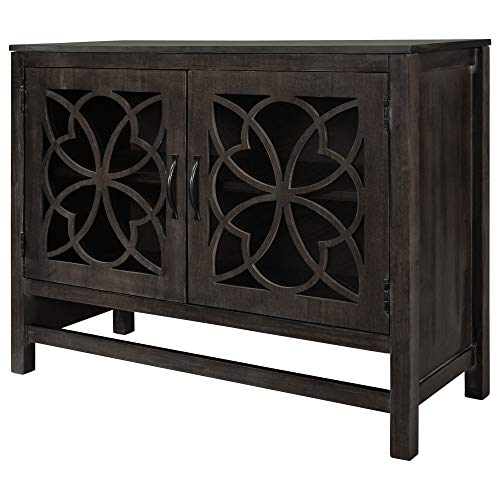 Knocbel Accent Storage Cabinet with Doors and Adjustable Shelf, Solid Wood Buffet Sideboard Entry Console Table for Living Room Dining Room Kitchen, 39.4