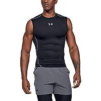 Under Armour Men's HeatGear Armour Sleeveless Compression Shirt, Black/Steel, Medium by UNDQT