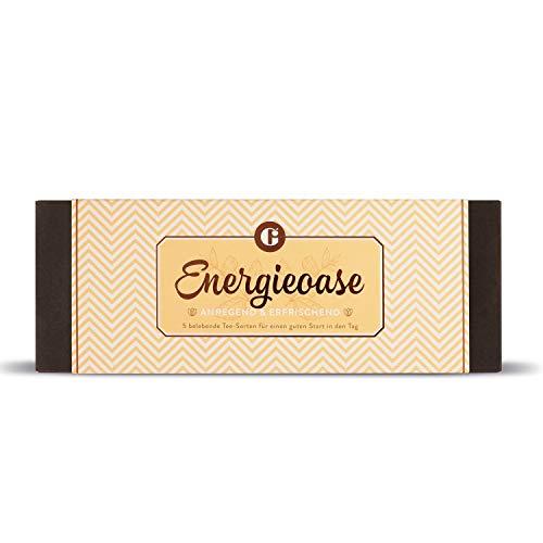 Geschenkset - Tee-Set - Das perfekte Geschenk für Tee-Liebhaber - Das ideale Weihnachtsgeschenk für Geniesser - Tee-Geschenkbox (Energieoase)
